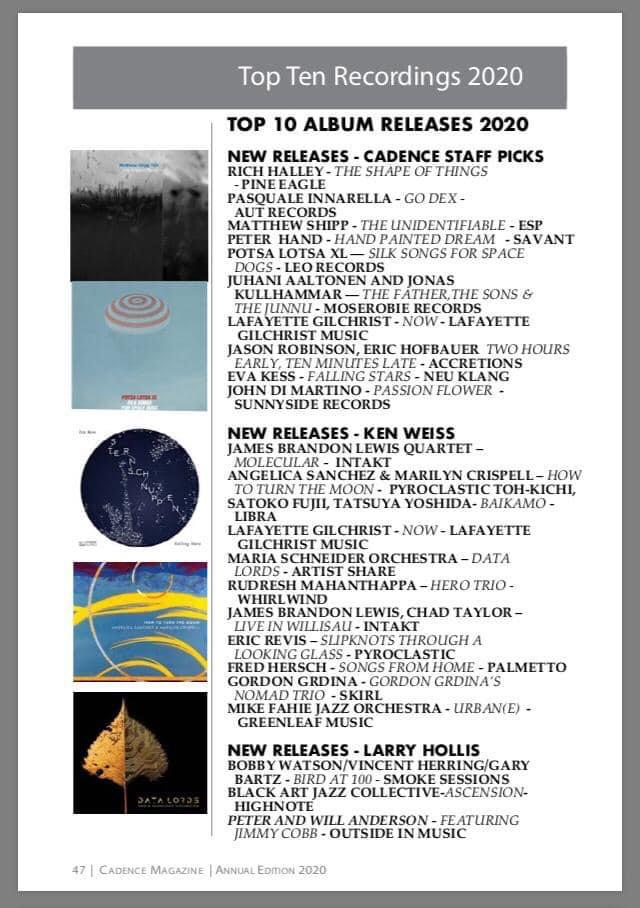 Top recordings 2020 Cadence Magazine