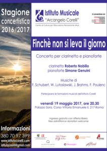 2017 locandina concerto clarinetto pianoforte 19 maggio