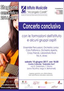Scuola Musica Tiburtina 2017 locandina concerto conclusivo Istituo Musicale Corelli 10 giugno