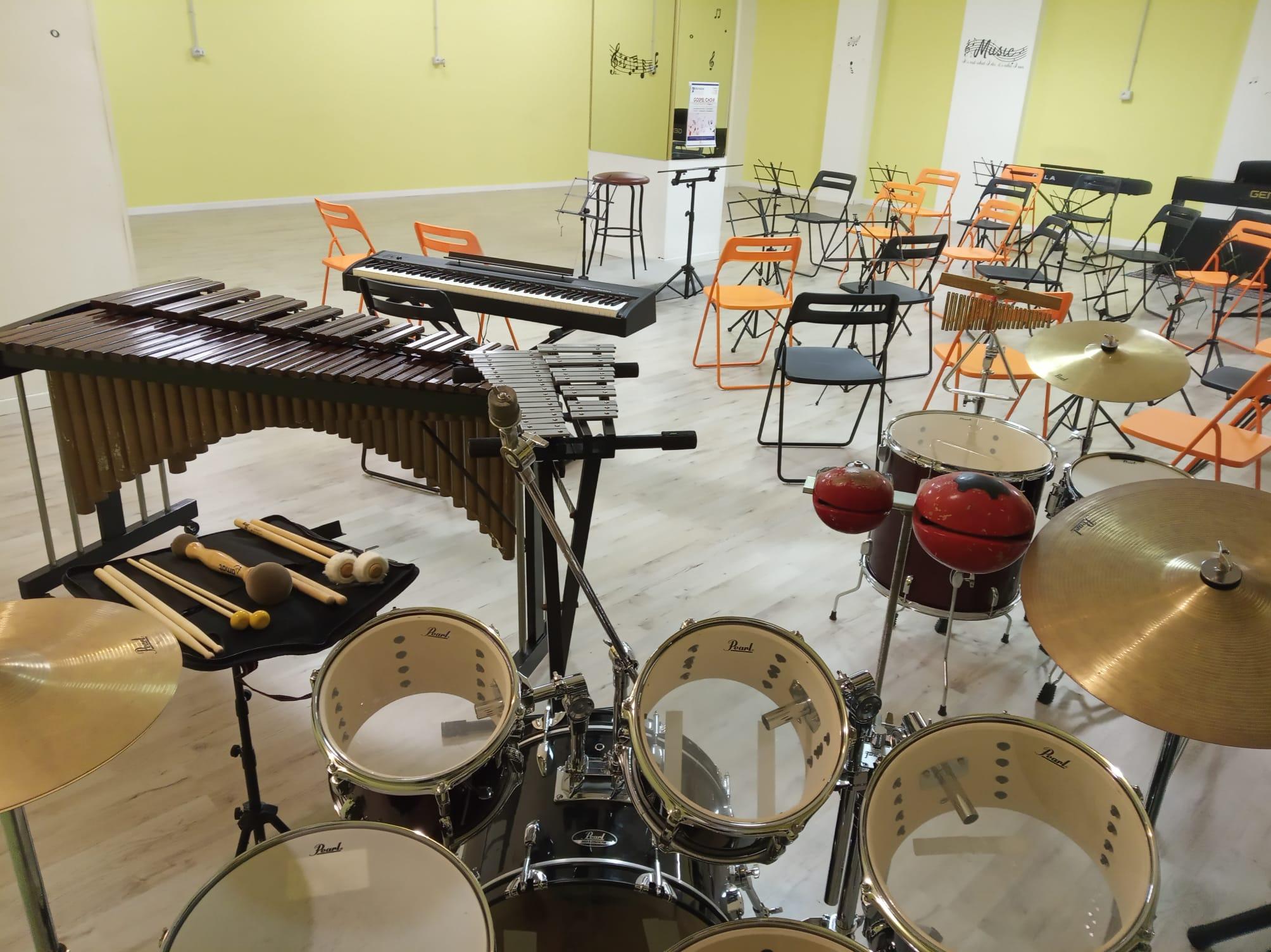 Le aule di musica dell'Istituto Corelli