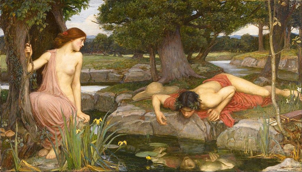 Identità della voce nel mito di Eco e Narciso raffigurato da John William Waterhouse